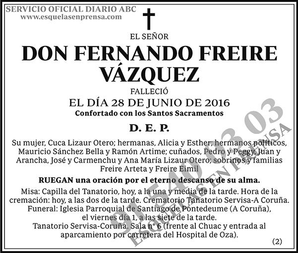 Fernando Freire Vázquez